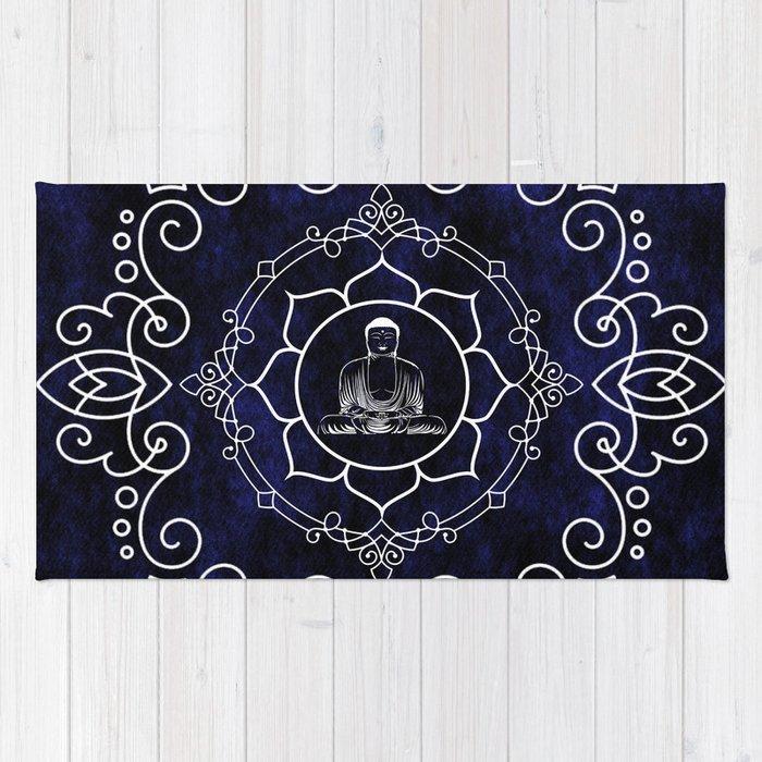 Buddha Lotus Mandala Rug