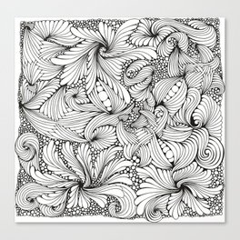 Abstract ink drawing Canvas Print