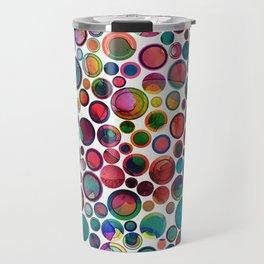 Dots on Painted Background 2 Travel Mug