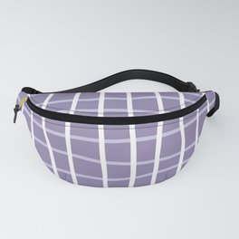 Grid Abstract Ultraviolet Fanny Pack