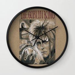 Bowie - Goblin King (DRAWLLOWEEN 3/31) Wall Clock