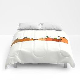 Pumpkins in a Row Comforters