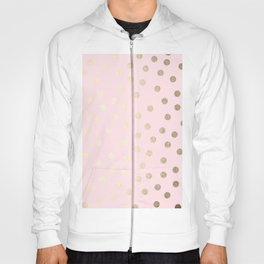Dots White Gold Sands on Flamingo Pink Hoody