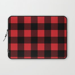 Red and Black Buffalo Plaid Laptop Sleeve