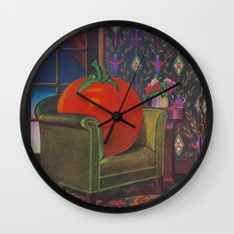 Therapy With A Tomato Milton Glaser - Tomato- Something unusual is going on here - 1978 Wall Clock