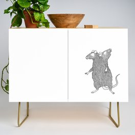 Two Headed Rat, I Love You Credenza
