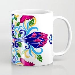 Moroccan Rose Tile Pattern Coffee Mug