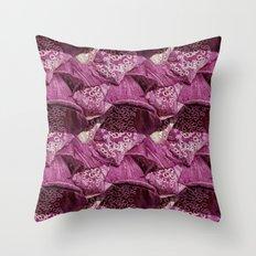 Foxglove Pattern Throw Pillow