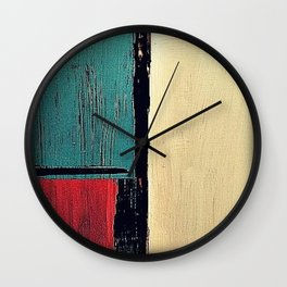 minimal painting, colours abstract bright Wall Clock