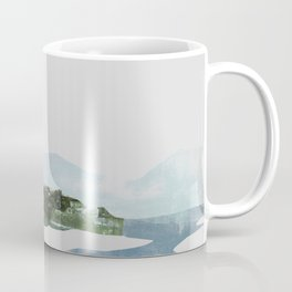 Mountain Vista with Big Sky and River, Winterscape Coffee Mug