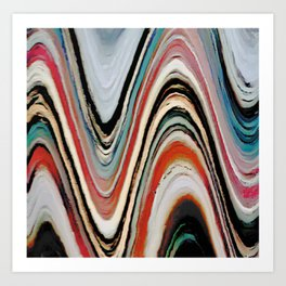 Waves of Color Art Print