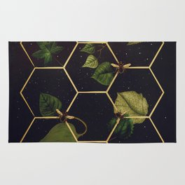 Bees in Space Rug