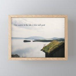 Time Spent at The Lake Framed Mini Art Print