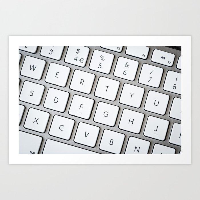 Computer keyboard Art Print by karidesign | Society6