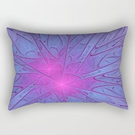 Pink Purple Abstract Flowers Rectangular Pillow