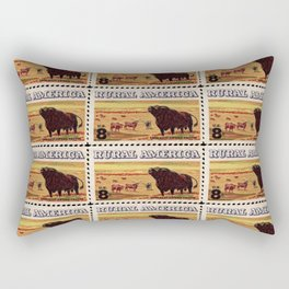 Rural America cattles herd vintage US post stamp Rectangular Pillow