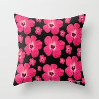 hibiscus Throw Pillows featuring Hibiscus   by maggs326