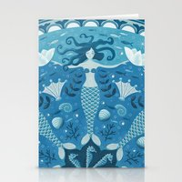 mermaids Stationery Cards featuring Mermaids by Melanie Ritchie