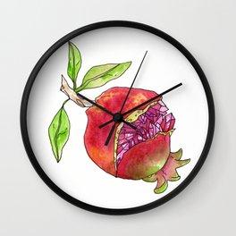 jeweled pomegranate Wall Clock
