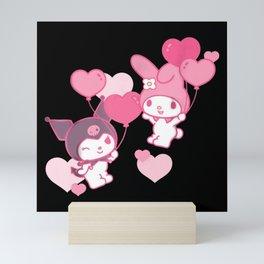 my melody and kuromi Mini Art Print