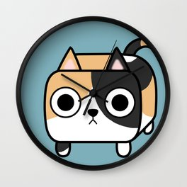 Cat Loaf - Calico Kitty Wall Clock