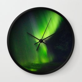 Icelandic northern lights Wall Clock