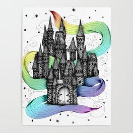 Super Magic Rainbow Dream Castle Poster