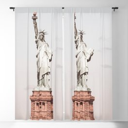 Vintage Statue of Liberty NY Blackout Curtain