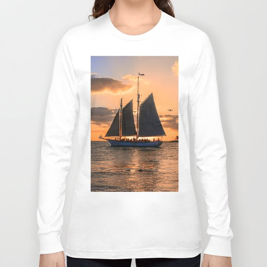 Sunset Sail and Plane Long Sleeve T-shirt