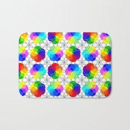 color wheels Bath Mat
