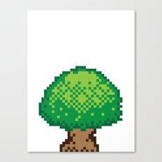 The Pixel Tree Canvas Print