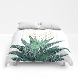 Succulent geometric Comforters