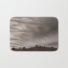the sky is acting funny Bath Mat