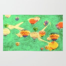 Balloon Love: up up and away Rug