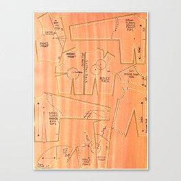 Khaki Bodices Canvas Print