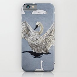 Swans on the Firehole iPhone Case