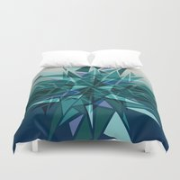 cracked Duvet Covers featuring Cracked Icicles by AJJ ▲ Angela Jane Johnston