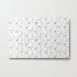 Linear Lily Metal Print