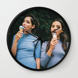 #ophelieandthegirls eat ice cream Wall Clock