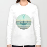 anchor Long Sleeve T-shirts featuring ANCHOR by Monika Strigel