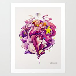 Pink Fairy Art Print