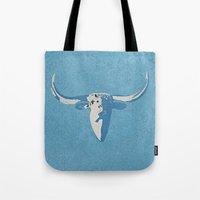 cow Tote Bags featuring Cow by Saundra Myles