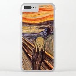 Edvard Munch  -  The Scream Clear iPhone Case