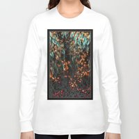 copper Long Sleeve T-shirts featuring Copper Aurora by DeepFlux