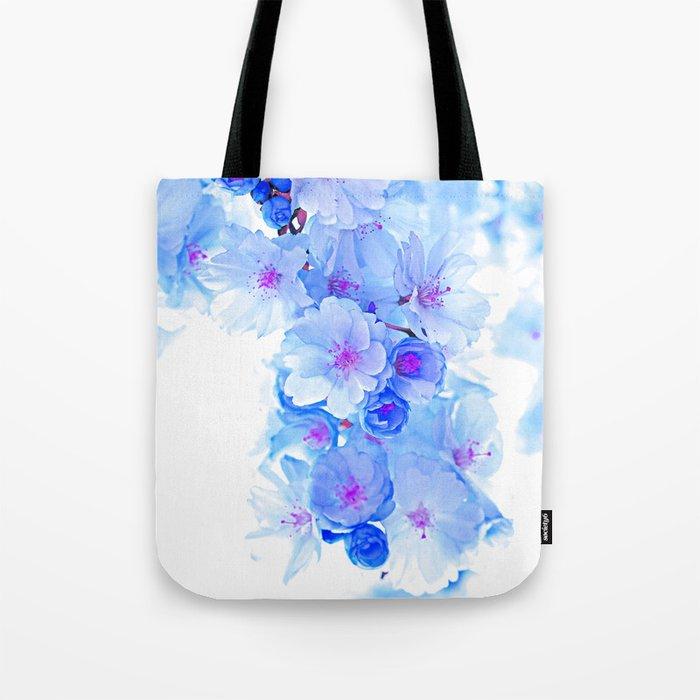 Cherry Blossom.Blue Tote Bag