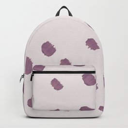 Blush lilac mauve violet modern brushstrokes Backpack