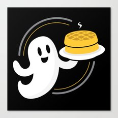 Ghost Waffles Canvas Print