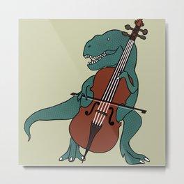 T-Rex Double Bass Metal Print