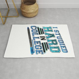 College Graduate Studied Hard in College Graduation Rug