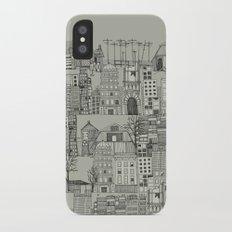 dystopian toile mono iPhone X Slim Case